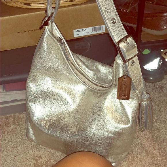 Coach Handbags - Metallic Coach Purse